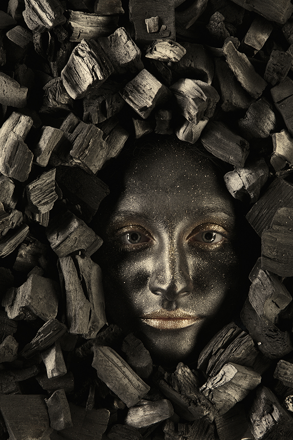 Black face woman