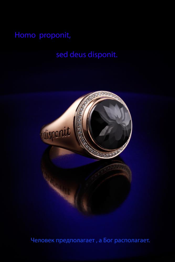 Авторское золотое кольцо с бриллиантами